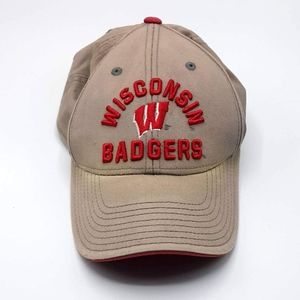 Adidas Wisconsin Badgers tan embroidered adj hat